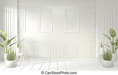 Empty room interior design.3D rendering
