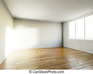 Empty room interior modern house
