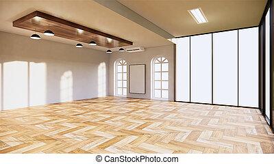 empty room interior office. 3D rendering