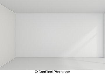 Empty room interior white background. 3d rendering