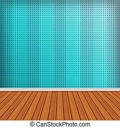 Empty room, interior with blue wallpaper. High resolution texture background.