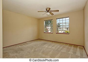 Empty room interior with carpet floor