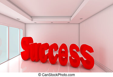 Empty room of complete success, concept business
