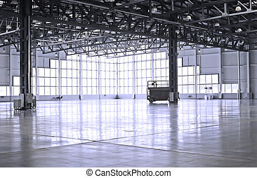 warehouse - empty room of modern warehouse