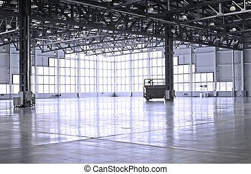 empty room of modern warehouse