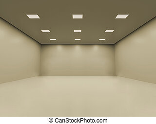 Empty room - Warm white empty room with smooth homogeneous...