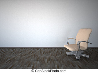 Empty Room Swivel Chair