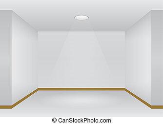 Empty Room interior with lights