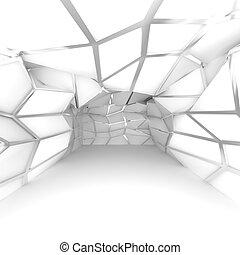 empty room white diagonal wall - Abstract white diagonal...