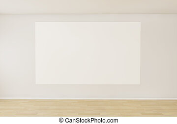 Empty room with a blank canvas - 3d render of a empty room...