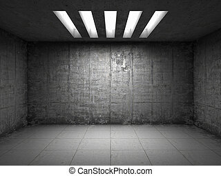 Empty room with concrete walls