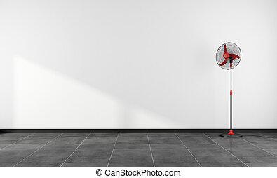 Empty room with fan