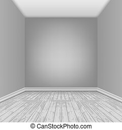 Empty Room With Laminate Floor. EPS10 Vector
