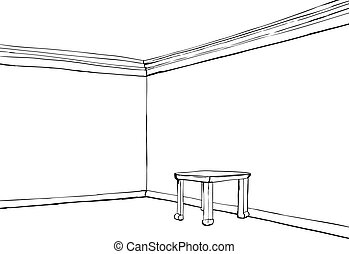 empty bedroom clipart. empty room with little table bedroom clipart t