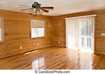 Empty Room with Pine and Oak