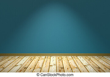 Empty room with rough wall under lamp - Empty room with...