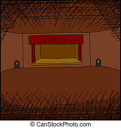 Empty Room with Stage
