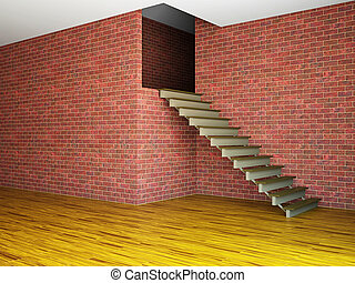 Empty room with stairway