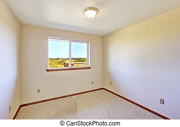 Empty room with window view