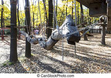 Empty rope park