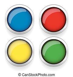 Empty round button set vector