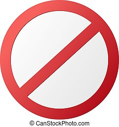 empty round red ban sign