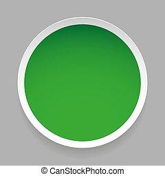 Empty round sticker vector
