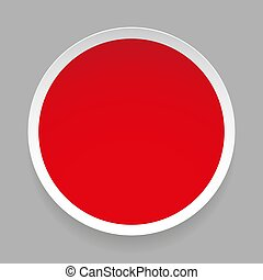Empty round sticker vector