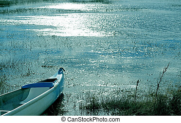 Empty Rowboat on the Tranquil Lake