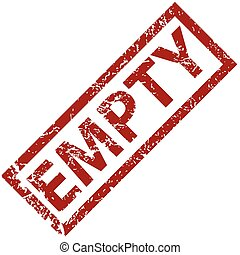 Empty rubber stamp