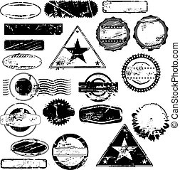 Empty rubber stamps - Collection of empty rubber stamps for...