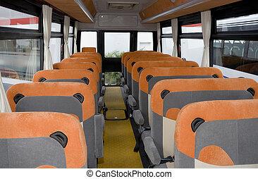 Empty School Bus Interior