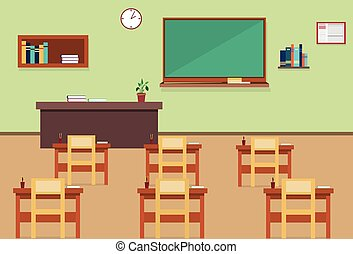 Empty School Class Room Interior