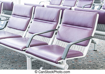 Empty seat in the airport