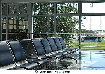 Empty seats at the airport