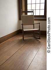 Shaker Chair - Empty Shaker Chair In A Room