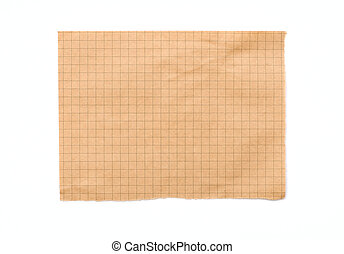 Empty sheet from a notepad in a cell