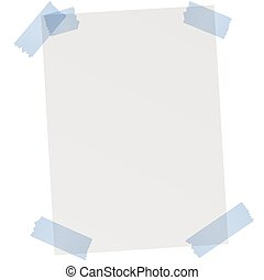 empty sheet of paper with adhesive tape