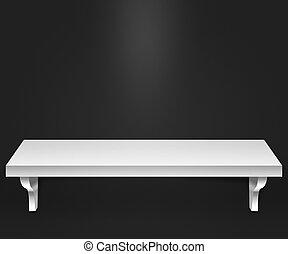 Empty Shelf Dark Background