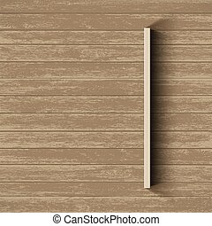 Empty shelf on wooden wall. Template background.