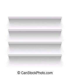 Empty shelves. Stock illustration.