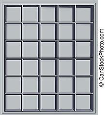 empty shelves - Gray empty shelves for shop or home interier