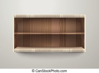 Empty shelves vector illustration. Template for a content