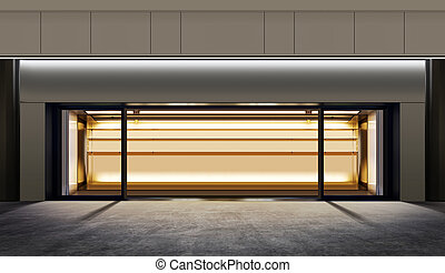 empty shop at night