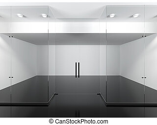 Empty shop. 3d render