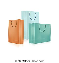 Empty Shopping Bag for advertising
