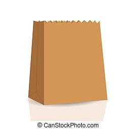 Empty Shopping Bag  for advertising and branding vector illustration