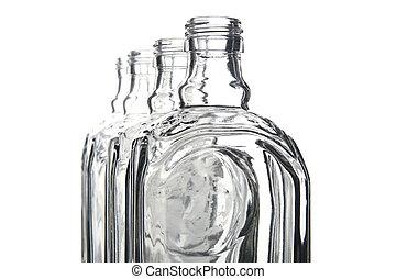 empty shtof for vodka macro - object on white - empty shtof...
