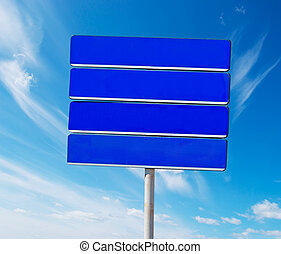 empty sign in the sky