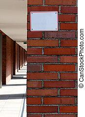 Empty Sign on Brick Wall